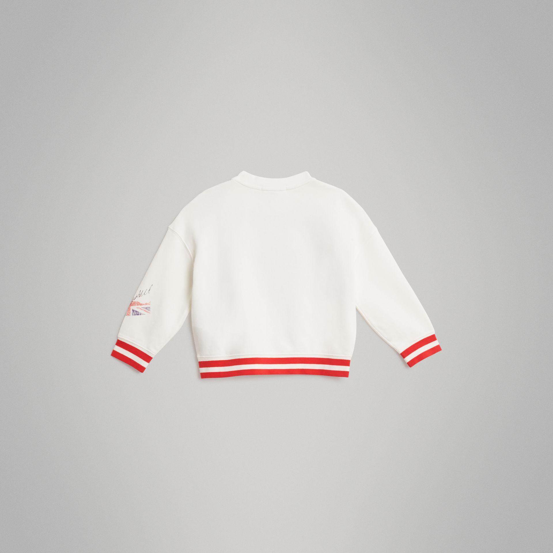 London Polaroid Print Cotton Sweatshirt in Ivory - Children | Burberry Singapore - gallery image 3