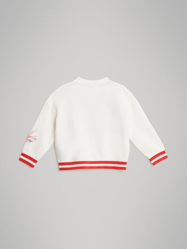 London Polaroid Print Cotton Sweatshirt in Ivory - Children | Burberry Singapore - cell image 3