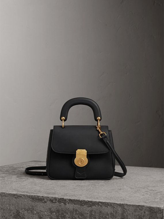 The Small DK88 Top Handle Bag in Black