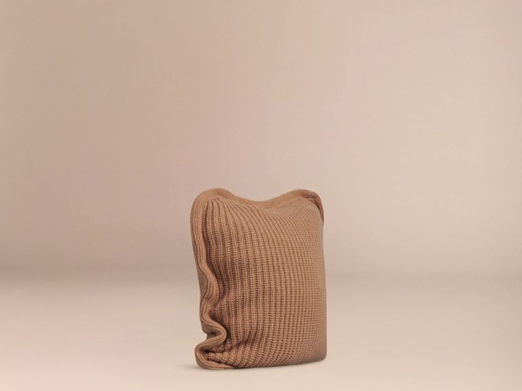 Camel Knitted Cashmere Cushion Cover Camel - cell image 2