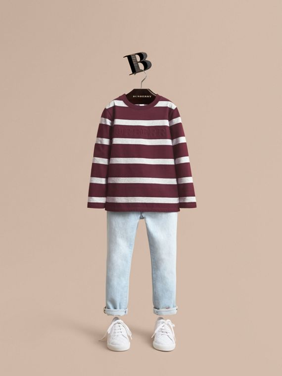 Relaxed Fit Stretch Denim Jeans - Boy | Burberry Singapore