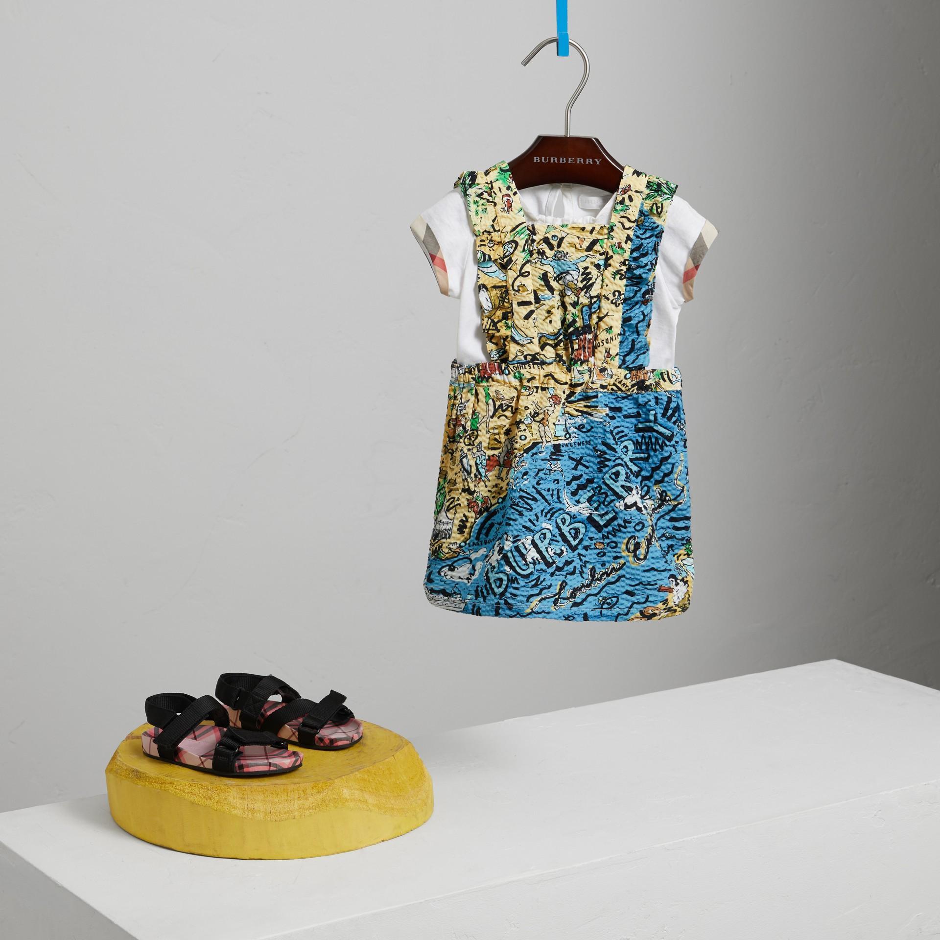 Seersucker-Kleid mit Küstenmotiv (Sandfarben) | Burberry - Galerie-Bild 0