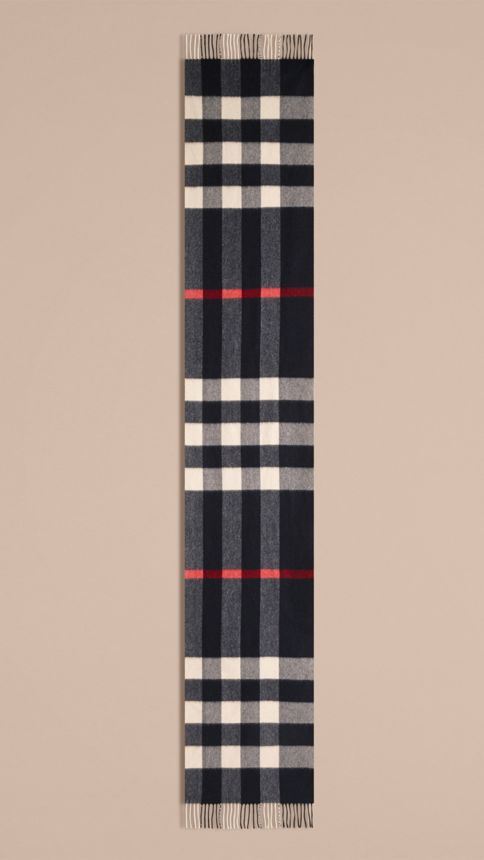 Giant Exploded Check Cashmere Scarf - Image 5