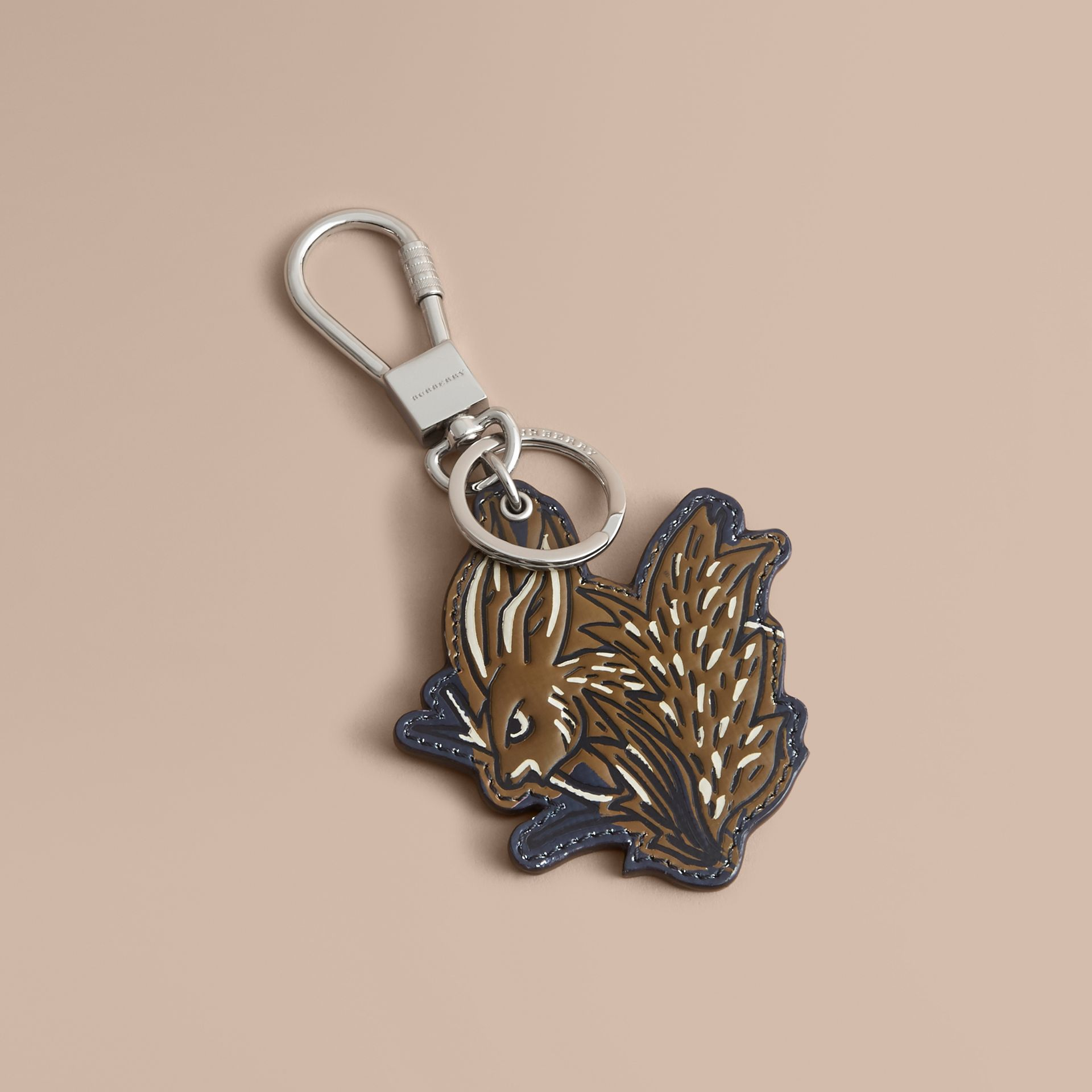 Beasts Leather Key Ring in Tan - gallery image 1