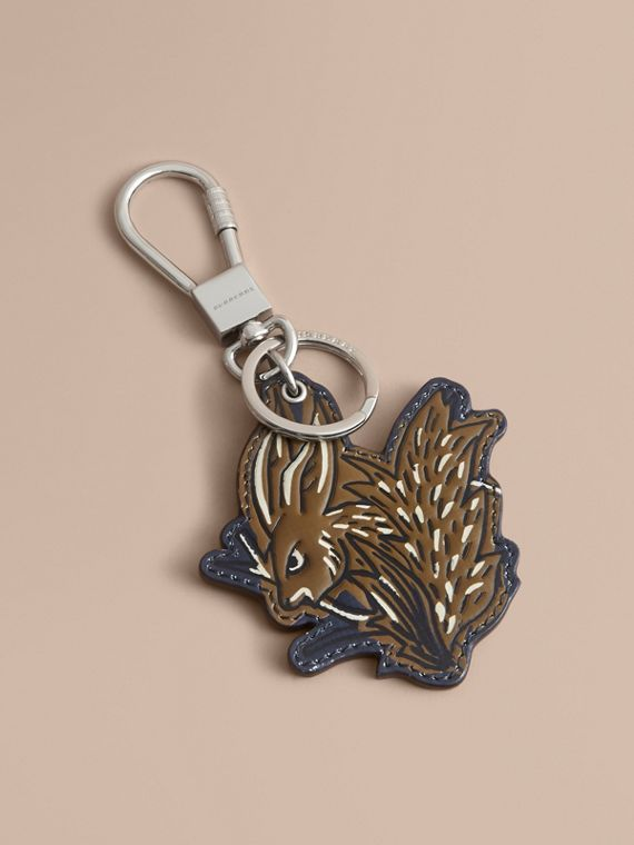 Beasts Leather Key Ring in Tan