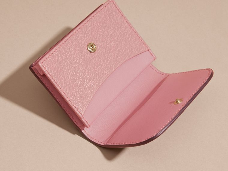 Grainy Leather Card Case in Dusty Pink - Women | Burberry - cell image 4