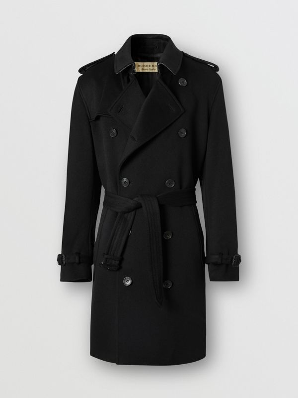 Cashmere Trench Coat in Black - Men | Burberry Australia - cell image 3