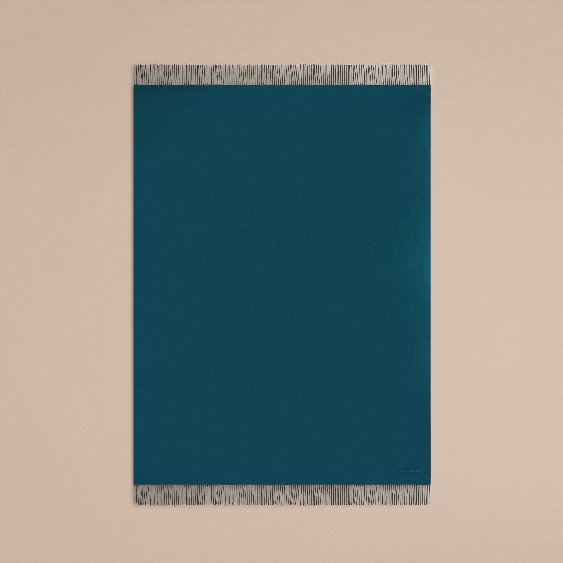 Cashmere Blanket in Dark Teal - gallery image 3
