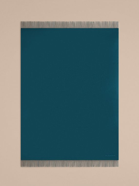 Cashmere Blanket in Dark Teal | Burberry - cell image 2