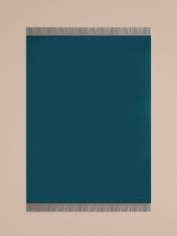 Cashmere Blanket in Dark Teal | Burberry Hong Kong - cell image 2