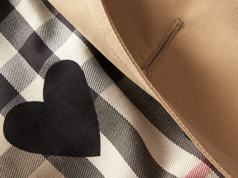 Honey Trench Coat with Check and Heart Lining - cell image 1