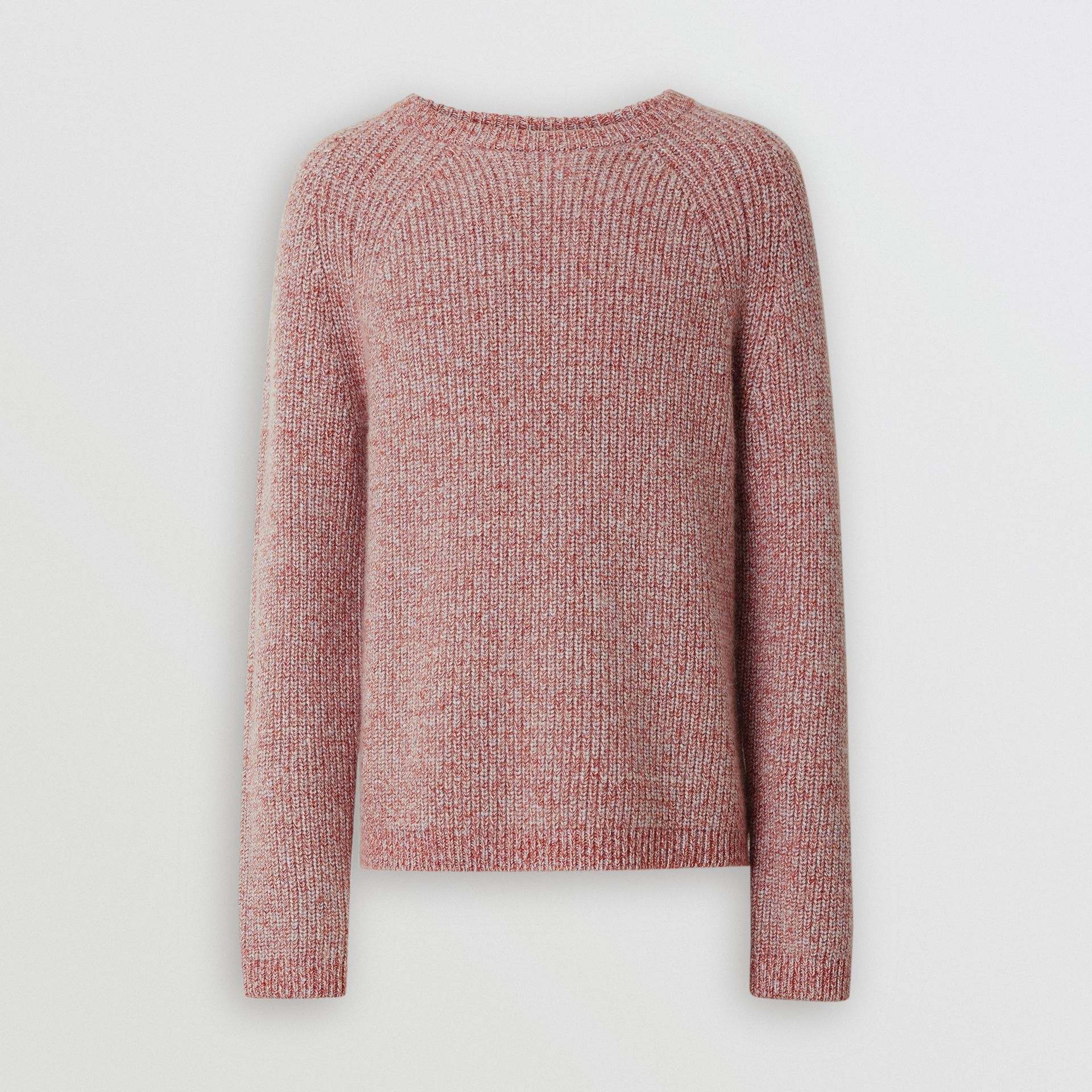 Rib Knit Cashmere Cotton Blend Sweater in Apricot Pink - Men | Burberry - gallery image 3