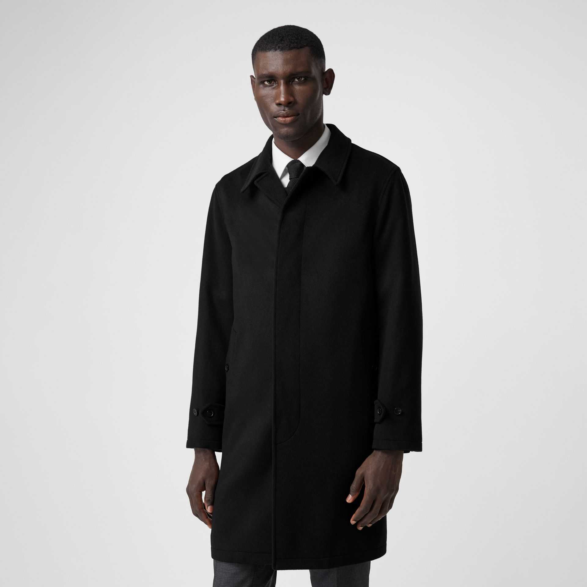 Cashmere Car Coat in Navy - Men | Burberry Hong Kong S.A.R - gallery image 6