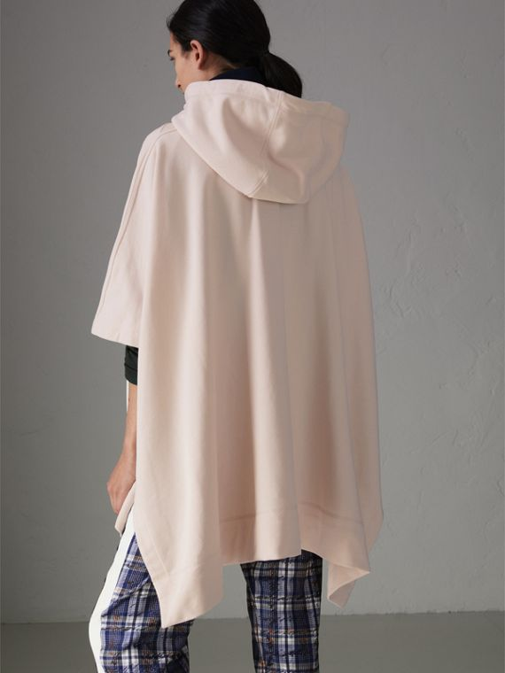 Cotton Jersey Hooded Cape in Pale Pink - Women | Burberry - cell image 2