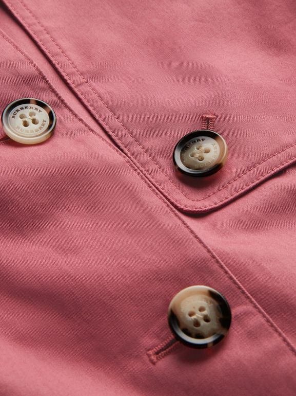 Showerproof Cotton Reconstructed Trench Coat in Rose Pink | Burberry United Kingdom - cell image 1