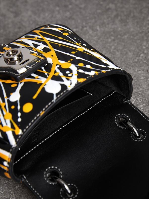 Bolsa de mão DK88 com estampa Splash - Mini (Preto) - Mulheres | Burberry - cell image 3