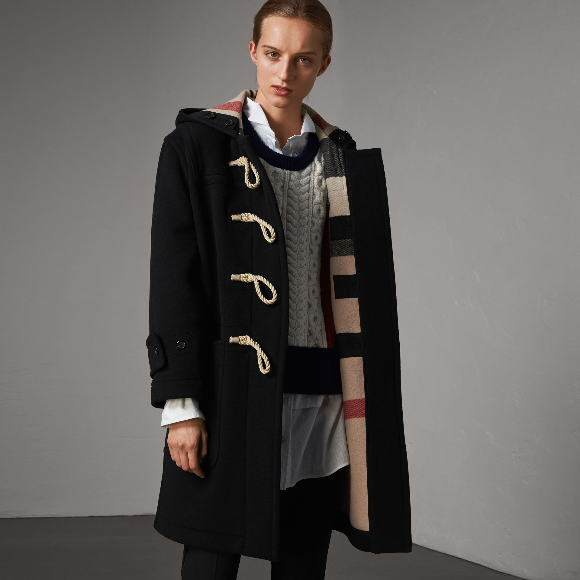 The Greenwich Duffle Coat in Black - Women | Burberry - gallery image 1