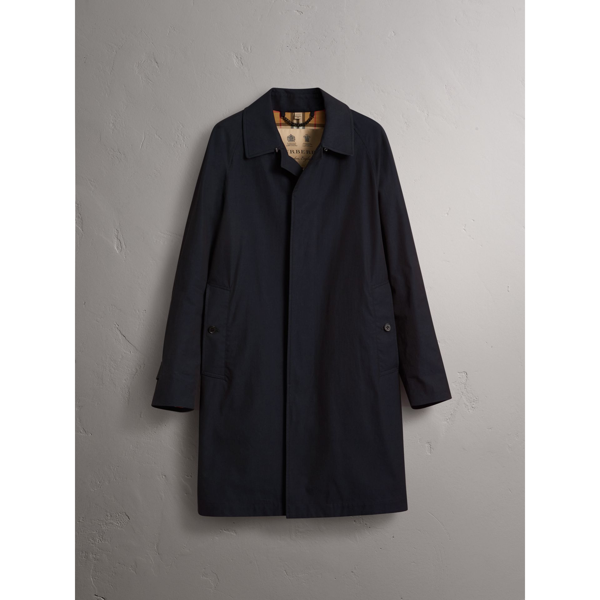 The Camden – Long Car Coat in Blue Carbon - Men | Burberry Australia - gallery image 3