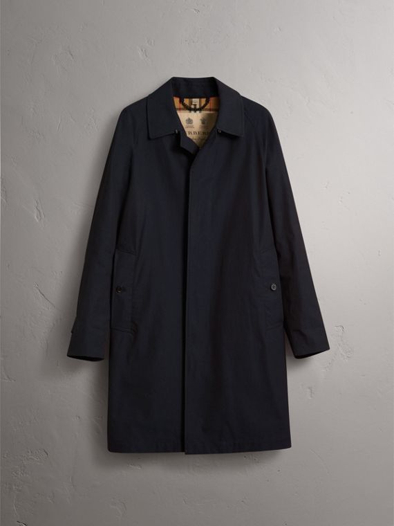 The Camden – Long Car Coat in Blue Carbon - Men | Burberry - cell image 3