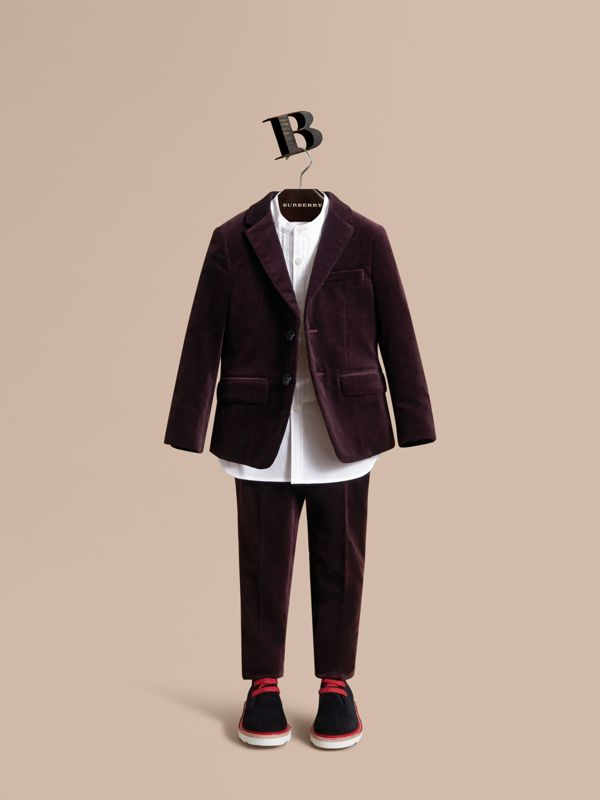 Blazer sartoriale in velluto (Ribes Nero) | Burberry - cell image 2