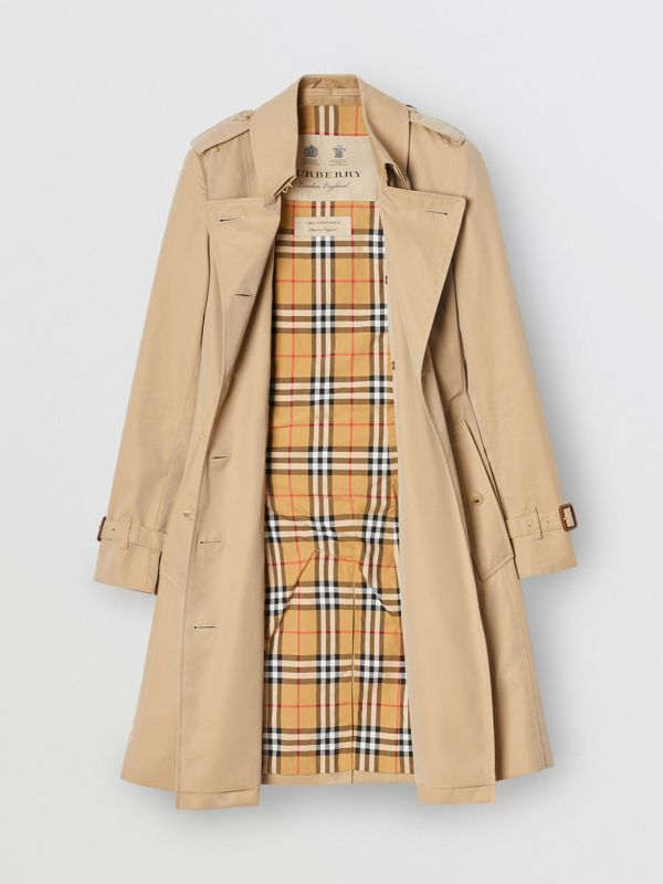 The Mid-length Chelsea Heritage Trench Coat in Honey | Burberry Canada - cell image 3