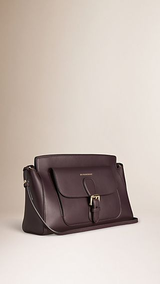 The Saddle Clutch in Bonded Leather