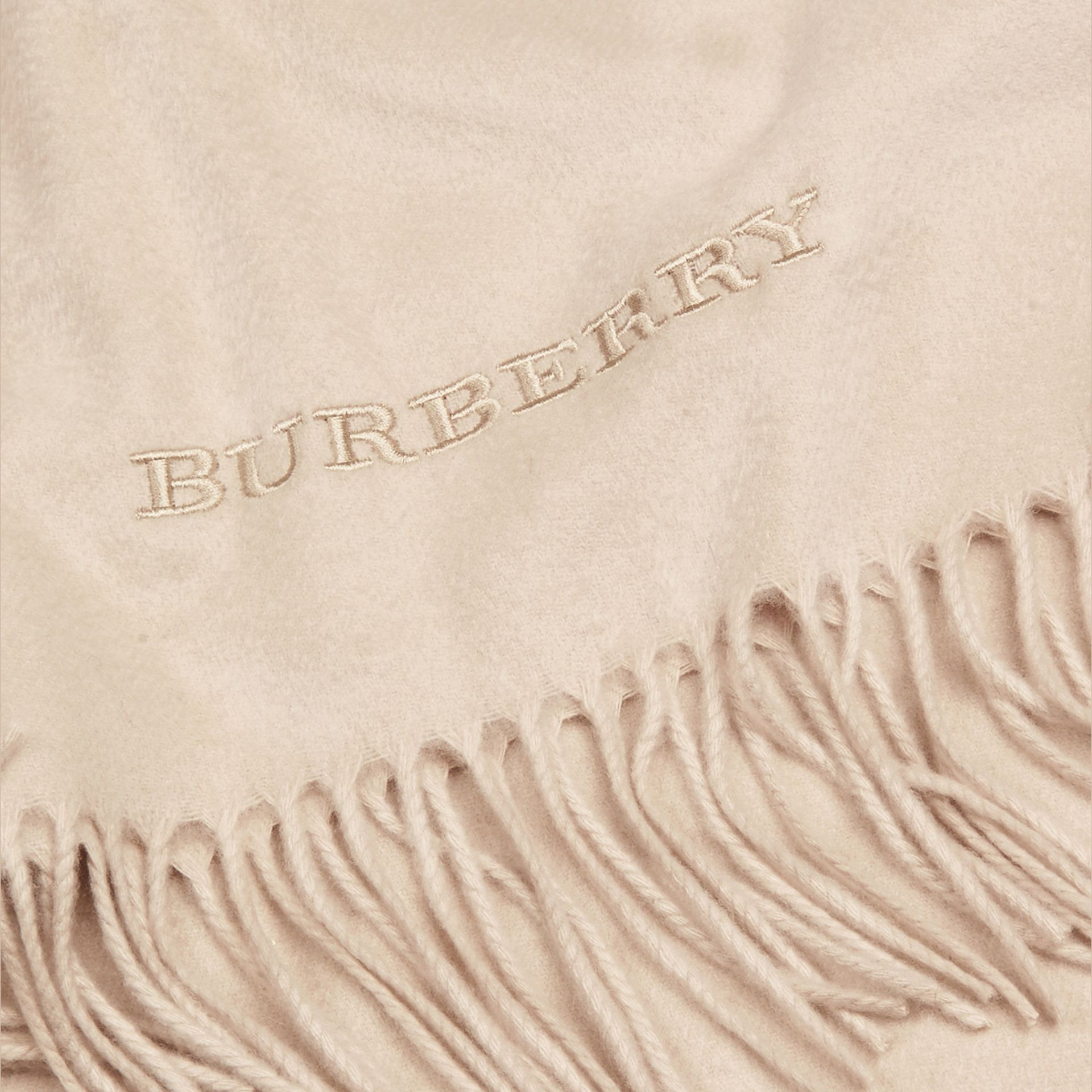 Cashmere Blanket in Stone | Burberry - gallery image 1