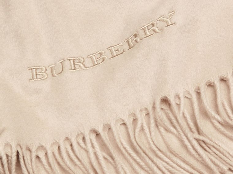 Cashmere Blanket in Stone | Burberry - cell image 1