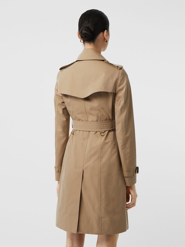 Gold Button Cotton Gabardine Trench Coat in Honey - Women | Burberry - cell image 2