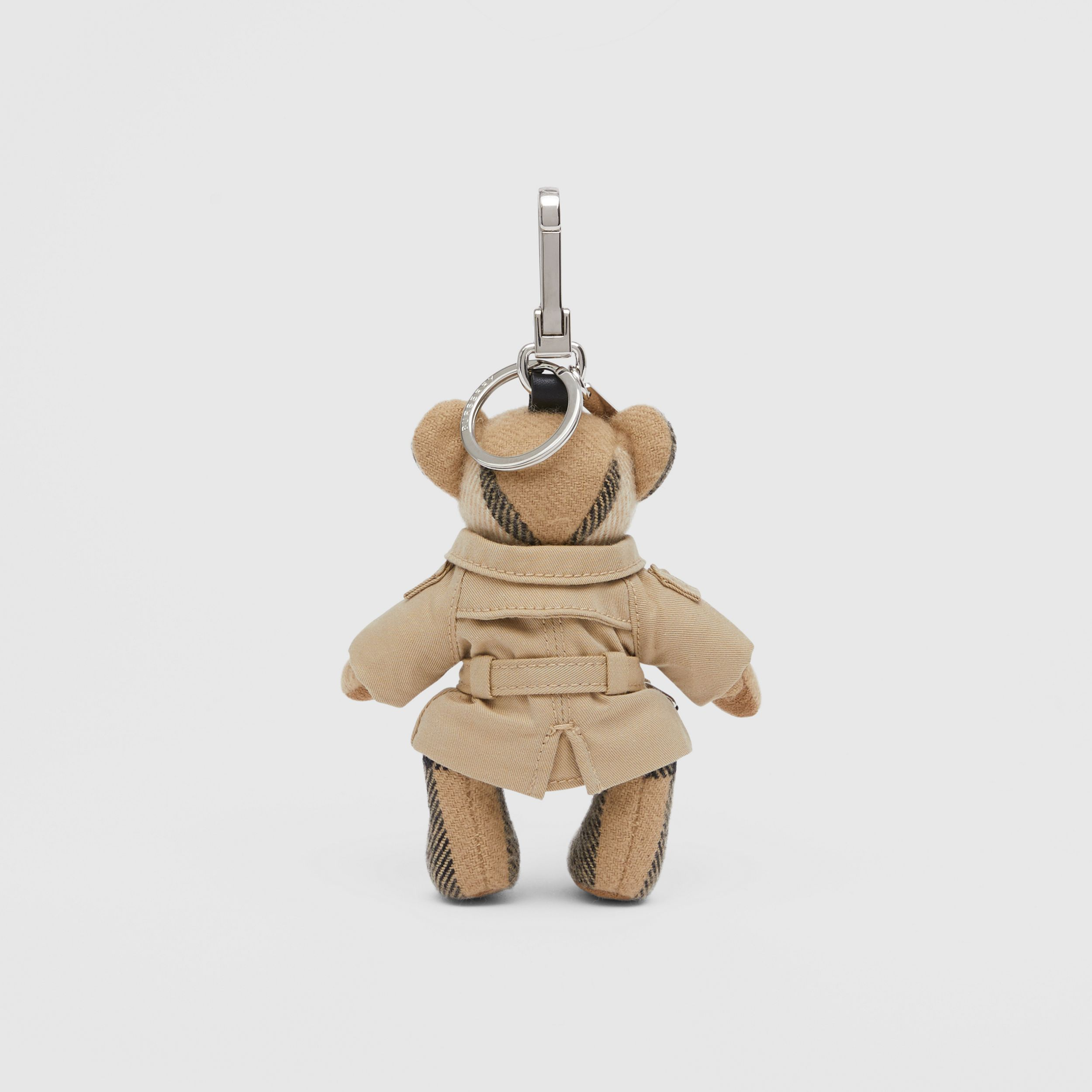 Thomas Bear Charm in Trench Coat in Archive Beige - Women | Burberry - 4