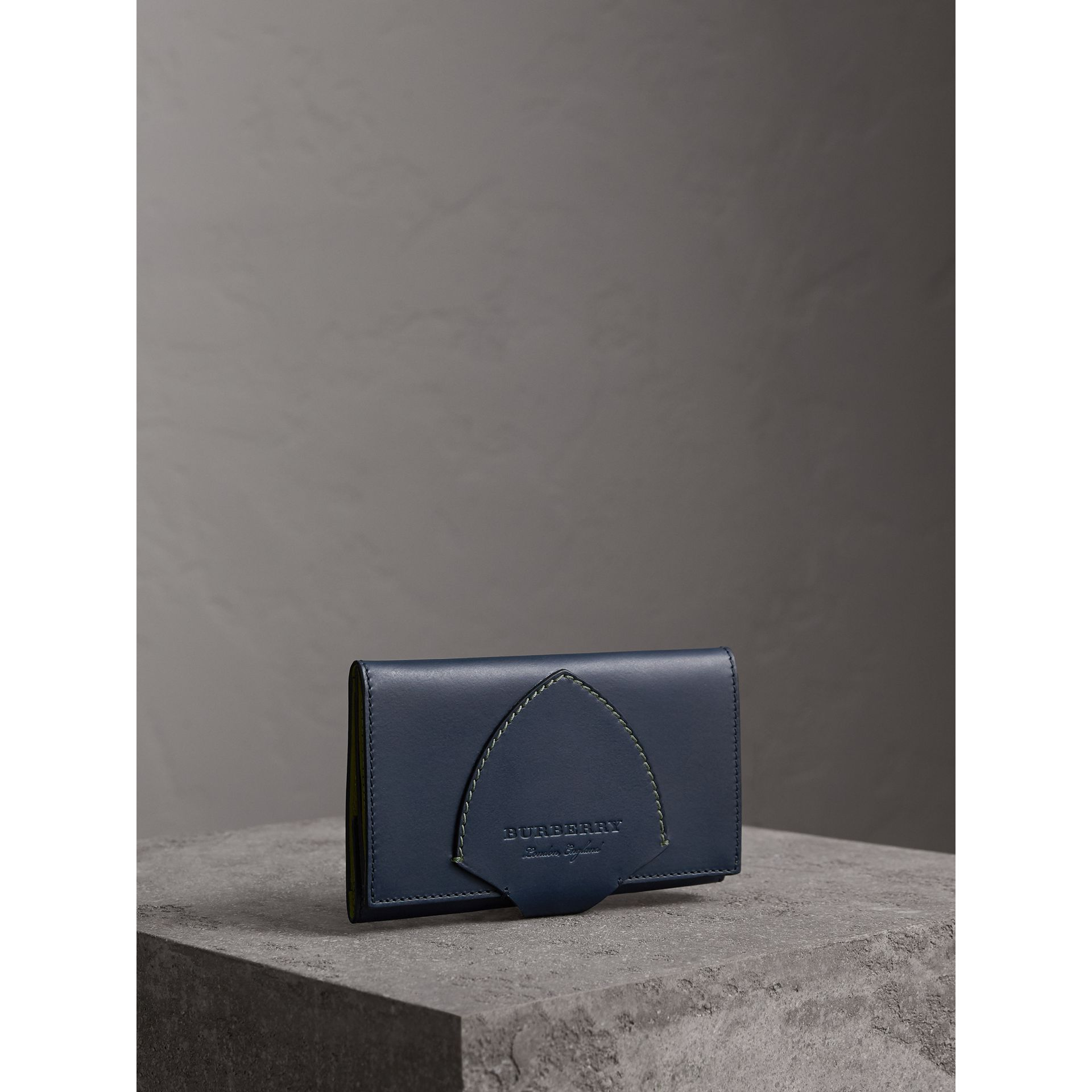 Equestrian Shield Two-tone Leather Continental Wallet in Mid Indigo - Women | Burberry Singapore - gallery image 1
