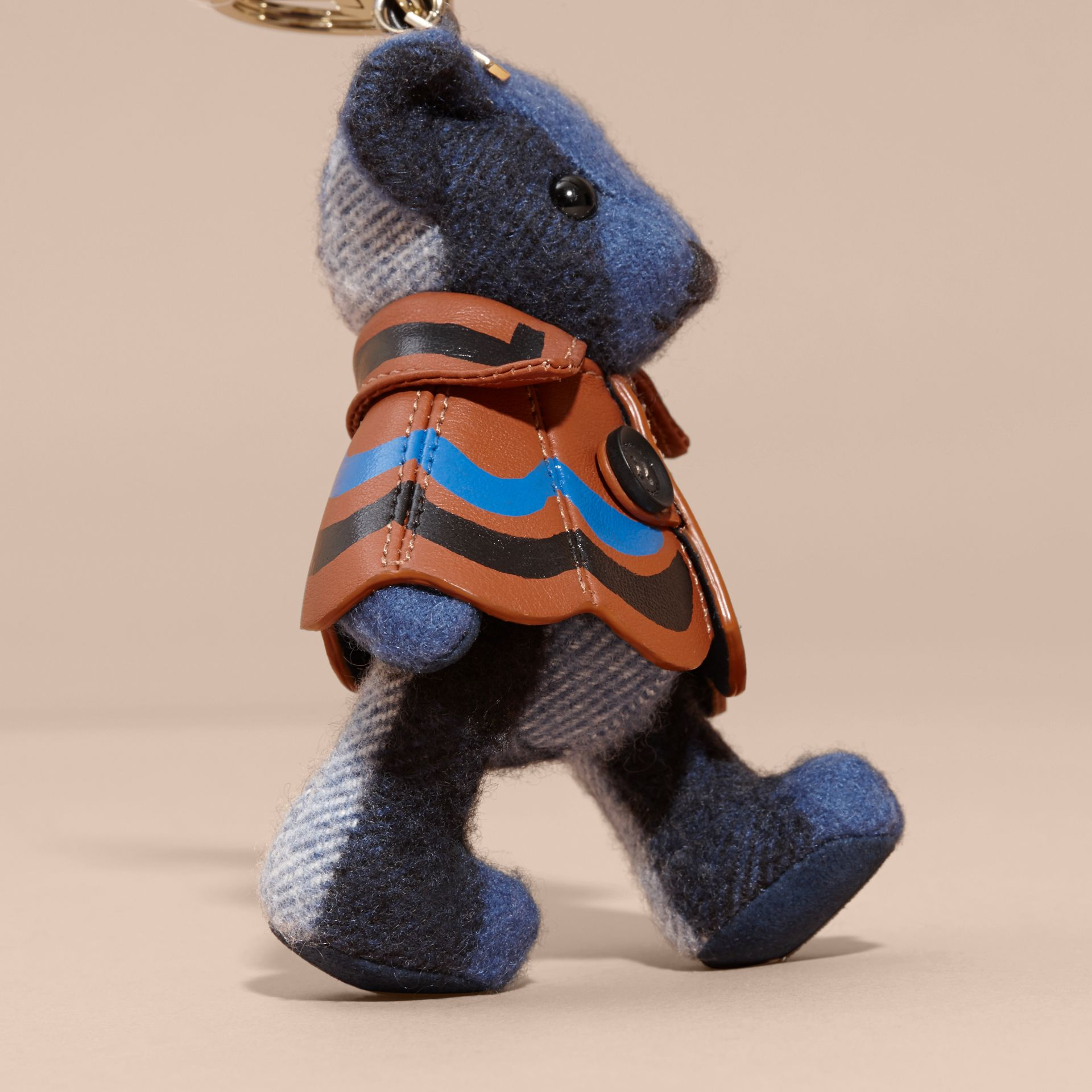 Thomas Bear Charm in Trompe L'oeil Print Cape Cadet Blue - gallery image 4