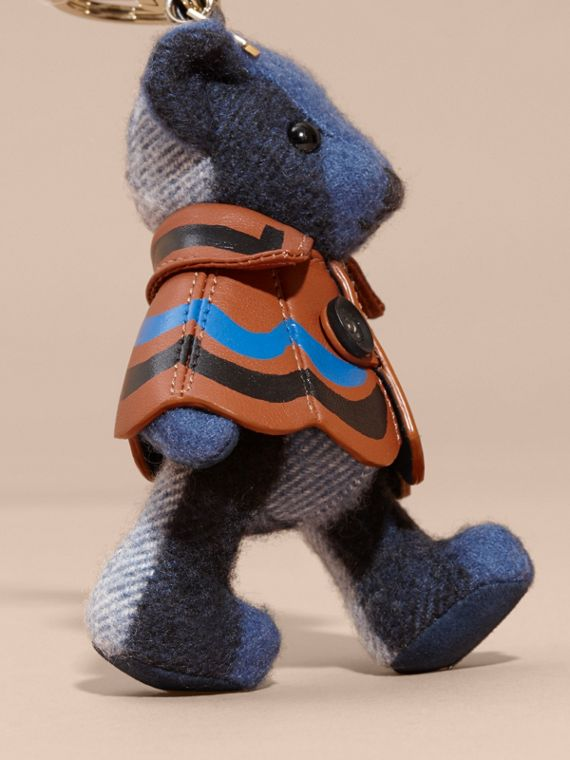 Thomas Bear Charm in Trompe L'oeil Print Cape Cadet Blue - cell image 3