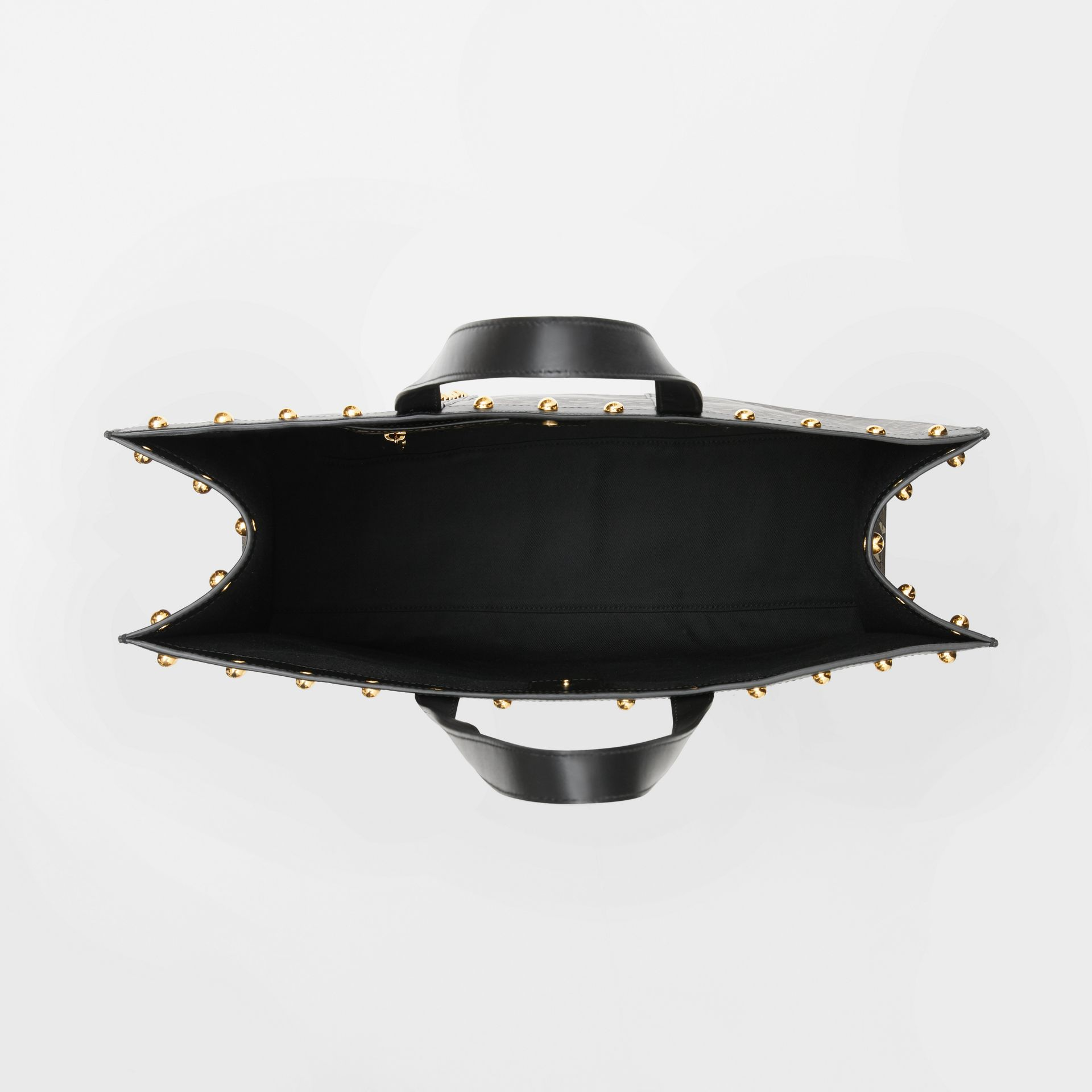 Monogram Print E-canvas Tote Bag in Black | Burberry - gallery image 5