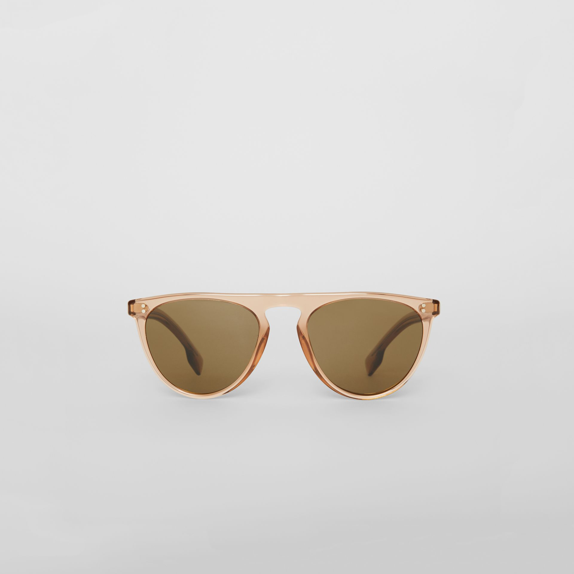 Keyhole D-shaped Sunglasses in Brown - Men | Burberry Hong Kong - gallery image 0