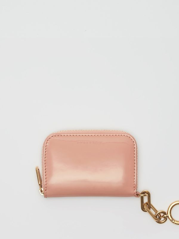 Link Detail Patent Leather Ziparound Wallet in Pale Fawn Pink - Women | Burberry - cell image 2