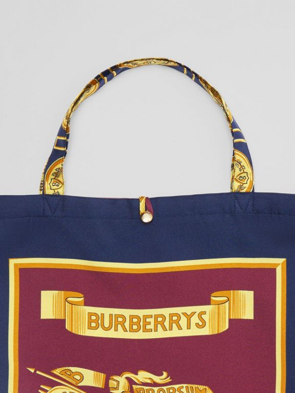 Archive Scarf Print Silk Tote in Military Red/burgundy - Women | Burberry - cell image 1