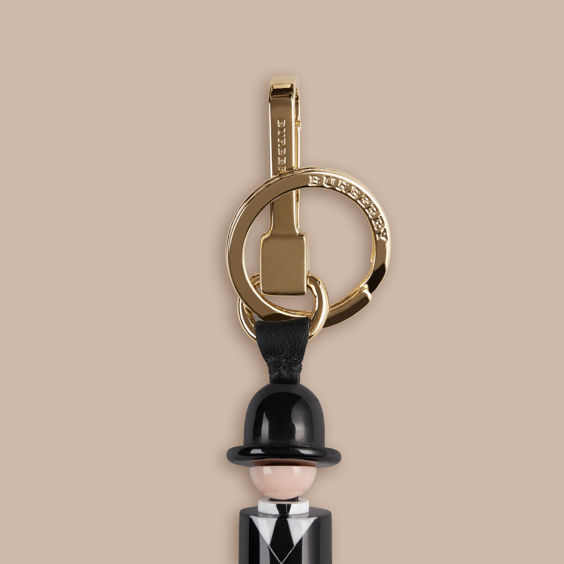 Black The City Gent Key Charm - gallery image 2