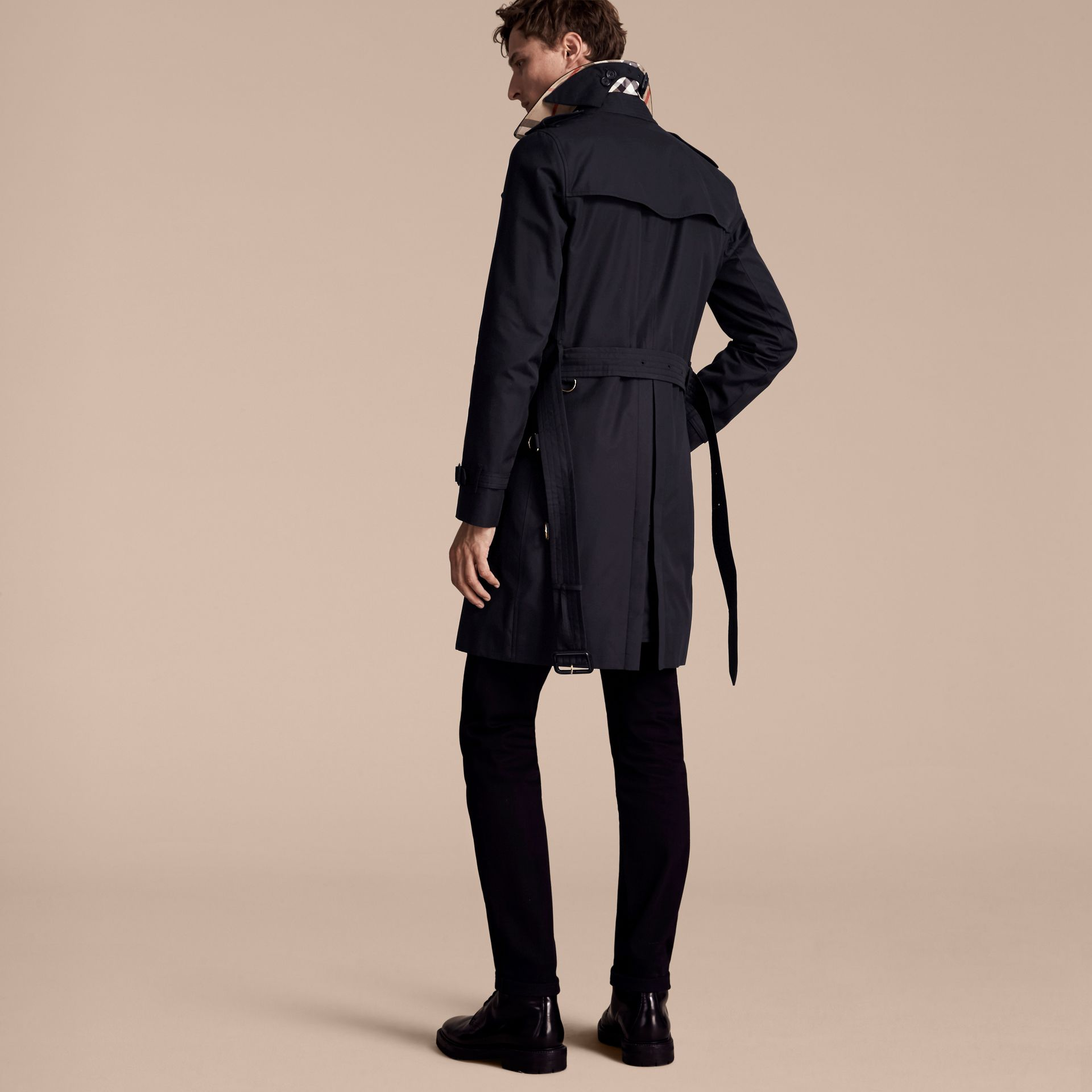 Marine The Sandringham – Trench-coat Heritage long Marine - photo de la galerie 3