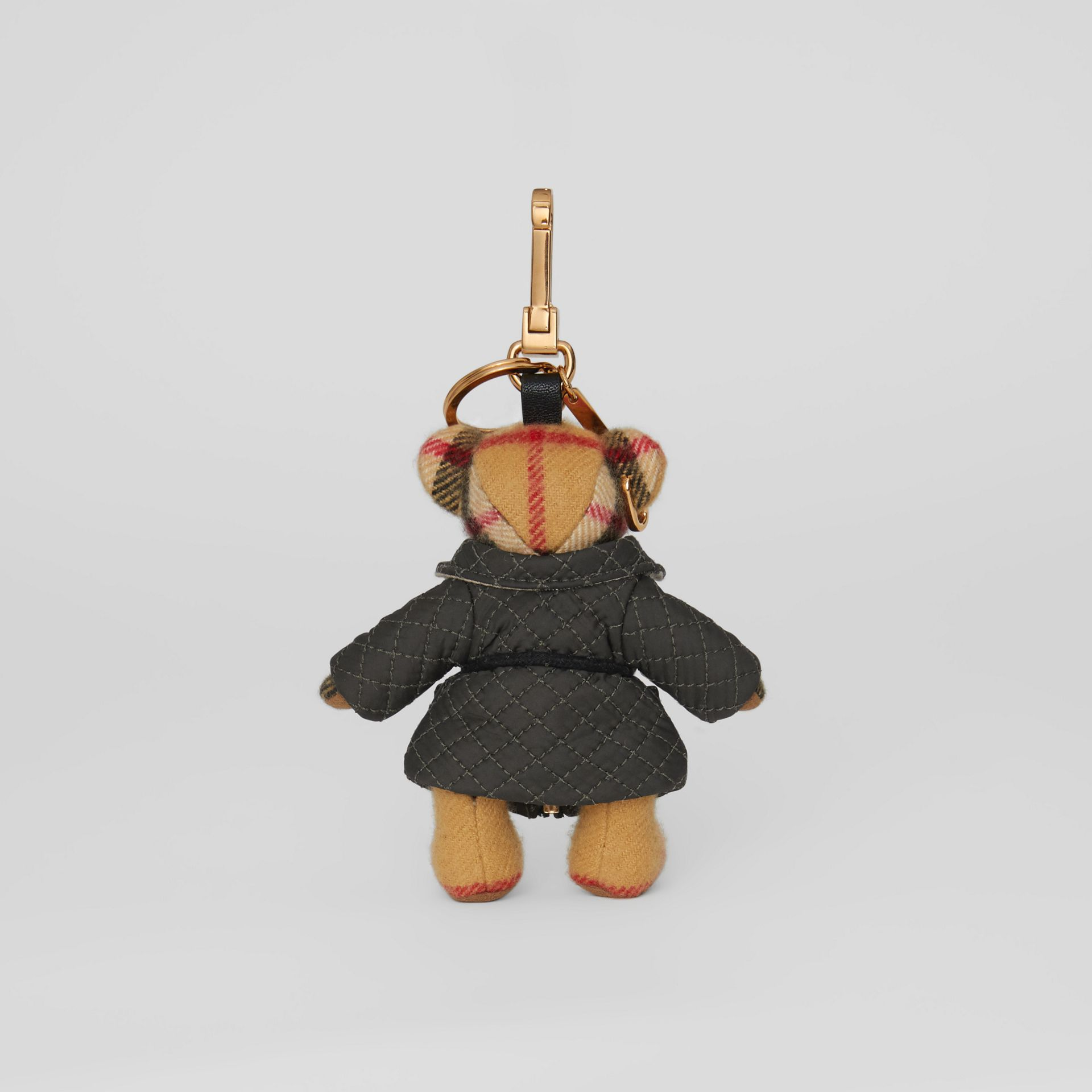 Bijou porte-clés Thomas Bear avec veste matelassée (Jaune Antique) | Burberry - photo de la galerie 3