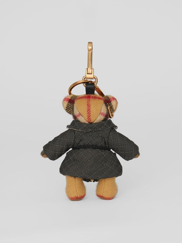 Thomas Bear Charm in Quilted Jacket in Antique Yellow | Burberry Australia - cell image 3