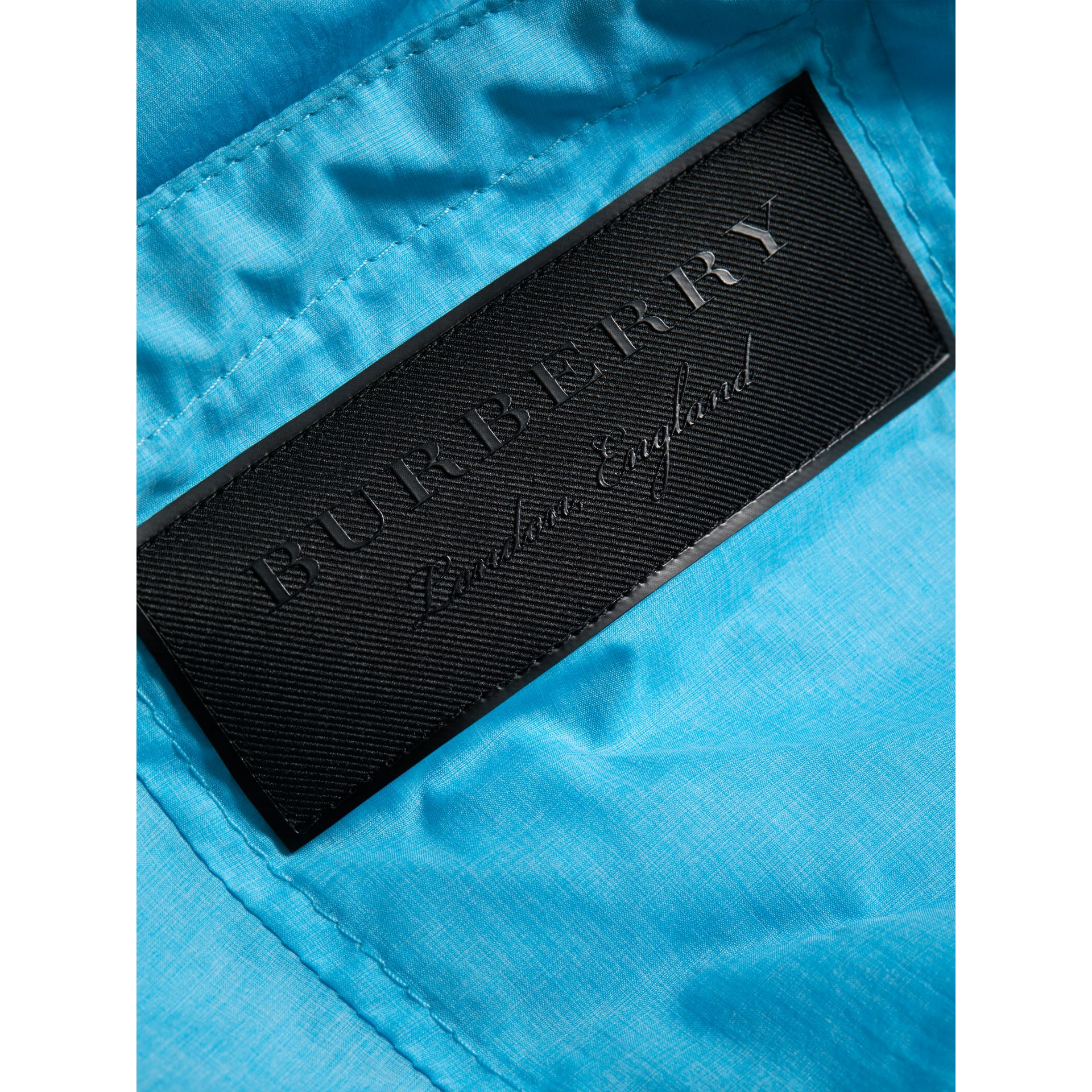 Showerproof Hooded Jacket in Bright Turquoise - Boy | Burberry Canada - gallery image 1