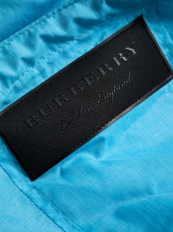 Showerproof Hooded Jacket in Bright Turquoise - Boy | Burberry United Kingdom - cell image 1