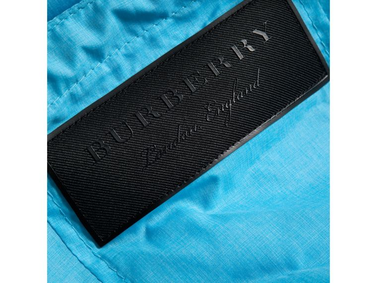 Showerproof Hooded Jacket in Bright Turquoise - Boy | Burberry Canada - cell image 1
