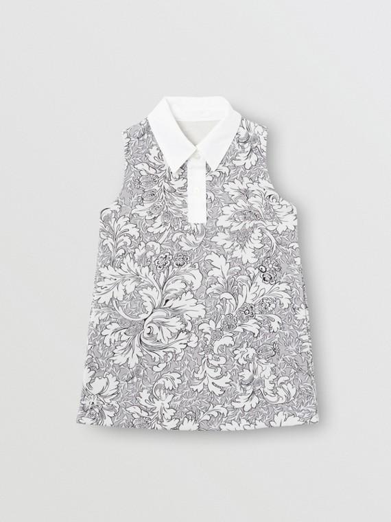 Robe droite à imprimé floral (Camaïeu De Gris Moyens)