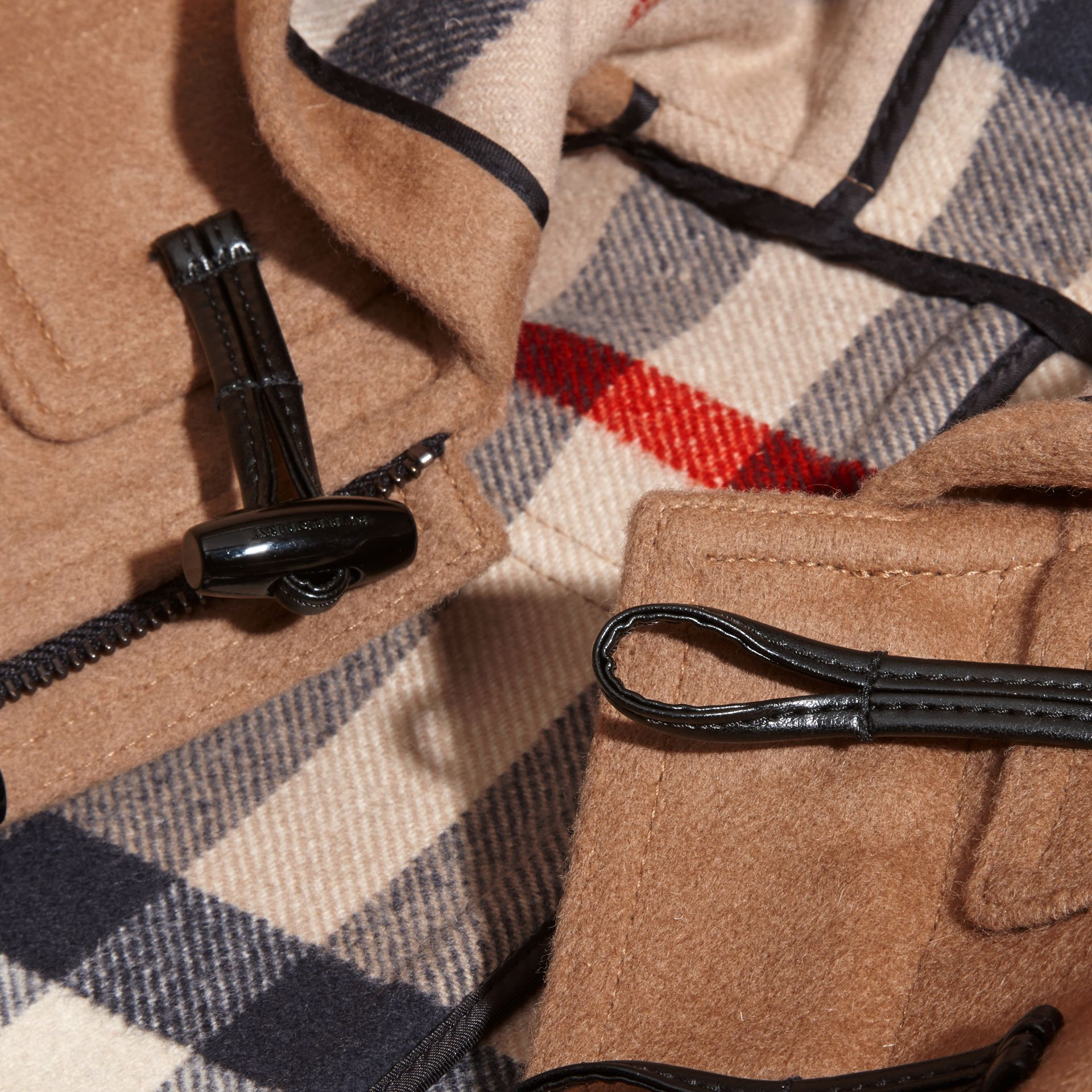 Wool Duffle Coat in New Camel | Burberry Australia - gallery image 1