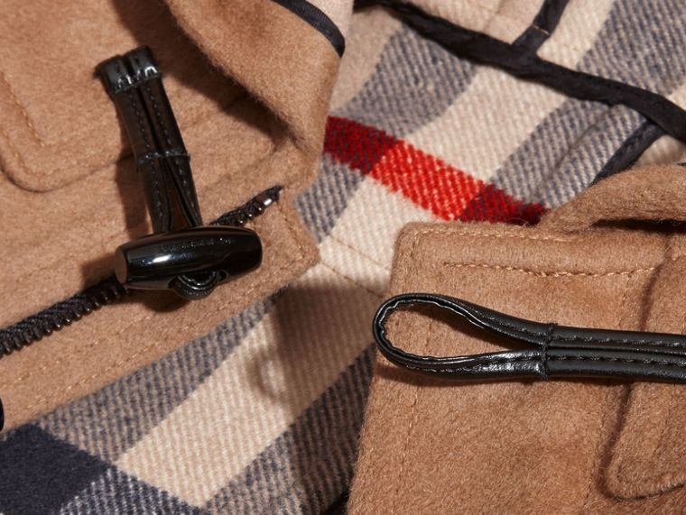 Wool Duffle Coat in New Camel | Burberry Australia - cell image 1