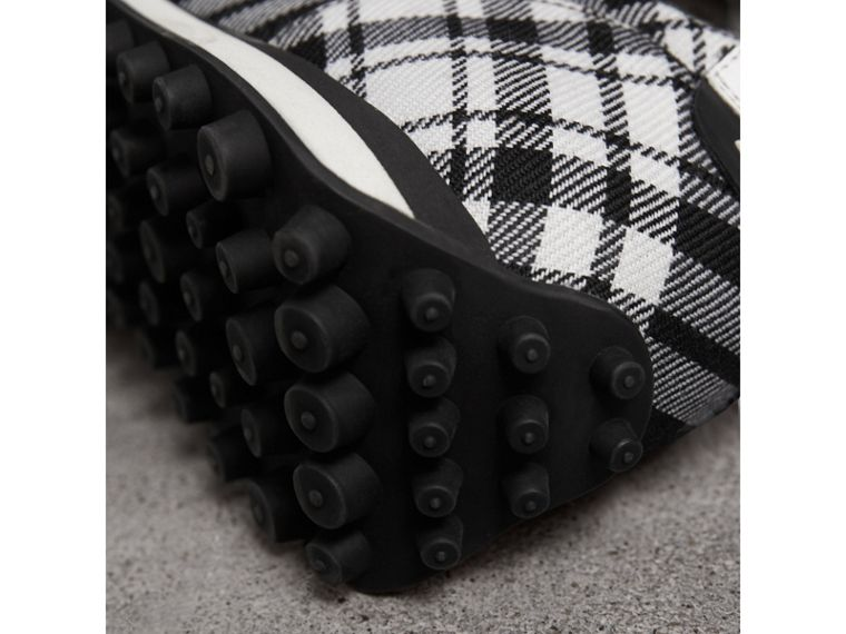 Tartan Wool Trainers in Black - Men | Burberry - cell image 1