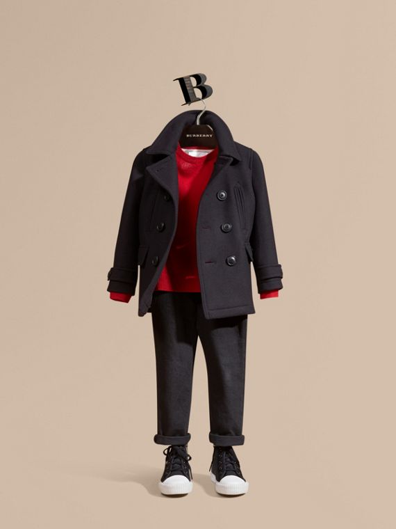 Pea coat in misto lana