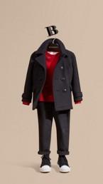 Wool Blend Pea Coat